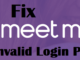fix meetme invalid login problems